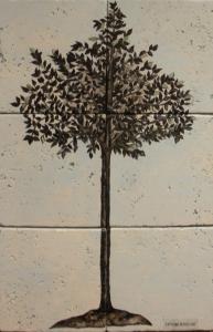 "Contemporary Tree Silhouette 12"" x 18"""