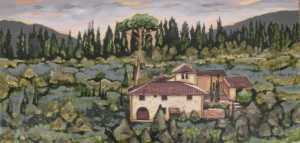 "Tuscan Wine Country 12"" x 24"""