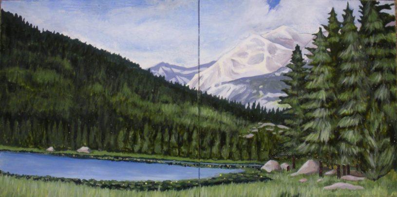 "Lake Landscape Mural 12""x24"""