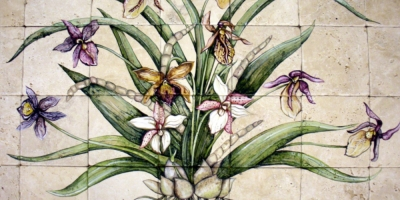 "Orchid mural 24""x42"""