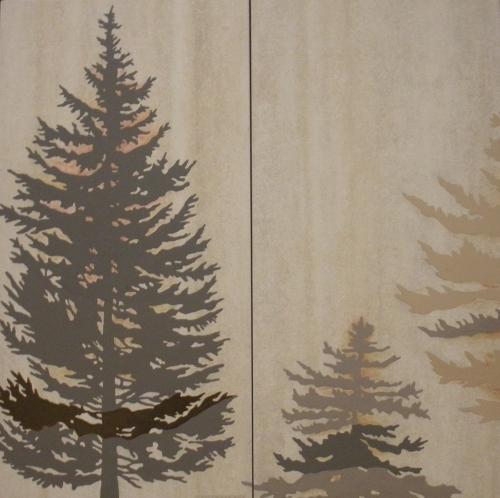 """Pine Trees 24""""x24"""""""