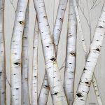 Modern Aspen Forest 24x24