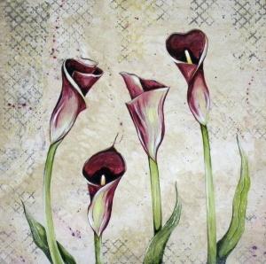 Modern Calla Lilies 18x18