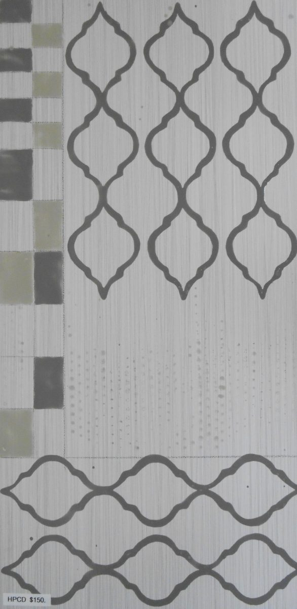 """Stormy Gray Pattern Abstract tile, 12""""x24"""""""