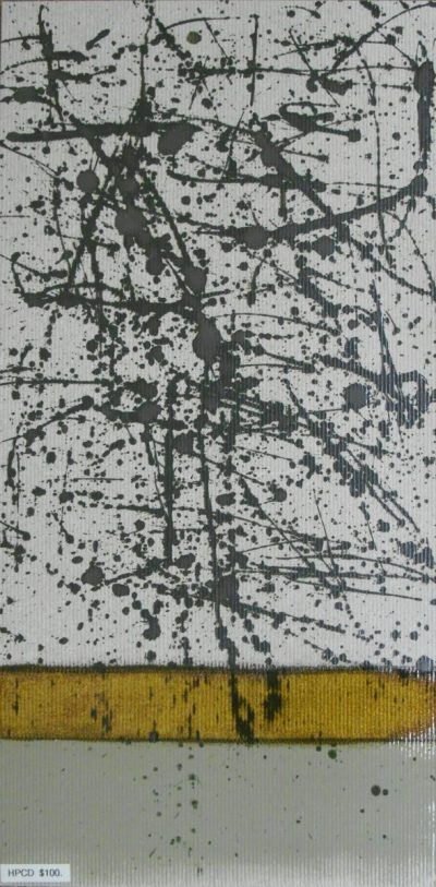"""Dappled Pewter Abstract Tile, 12""""x24"""""""
