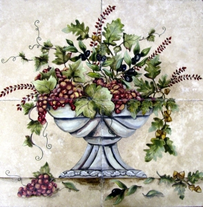 Autumn fruit bowl 24x24