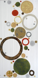 "Tres Mod Circles Abstract Tile, 12""x24"""