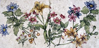 Secret Flower Garden 12x24