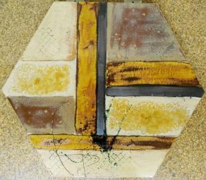 Antique Gold Hexagonal Abstract Tile