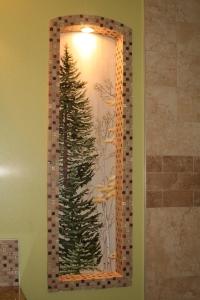 Fresh Aspen and Pine mural 24x12