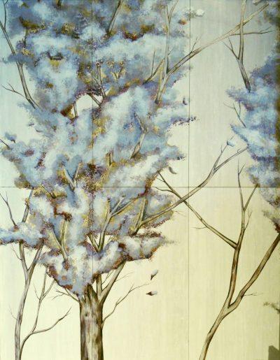 "Enchanting Spring Trees, 36""x48"""