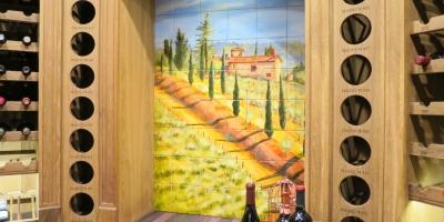 Tuscan Road tile mural, 36″x54″