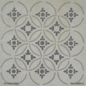 "Stately Stone Gray Deco, 12""x12"""
