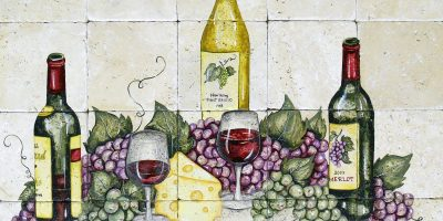 Timeless Wine and Grapes 24x30