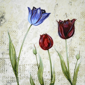 """Contempo Tulips, 18""""x18"""""""