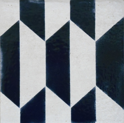"Deep Aegean Blue Geometric Tile, 6""x6"""