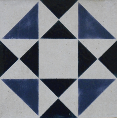 "Slate Blue Geometric Tile, 6""x6"""
