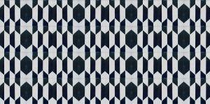 Deep Aegean Blue Geometric Tile Pattern