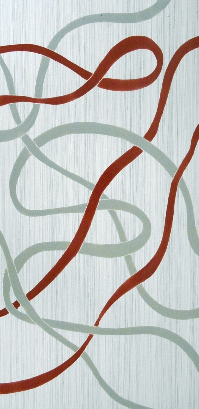 "Chic Ribbons Geometric Tile, 12""x24"""