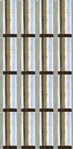 Dove Gray Striped Abstract Tile Pattern