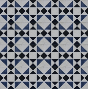 Slate Blue Geometric Tile Pattern