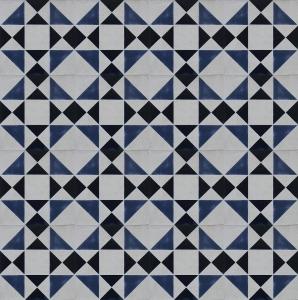 Slate Blue Geometric Tile Pattern