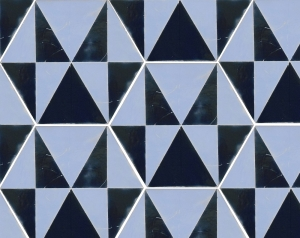 Ocean Blue Geometric Hexagon Tile