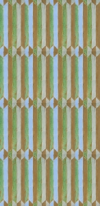 Copper Green Geometric Tile Pattern