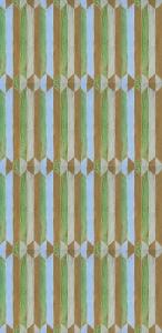 Copper Green Geometric Tile Pattern