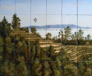 Hillside Napa Vineyard 30″x36″