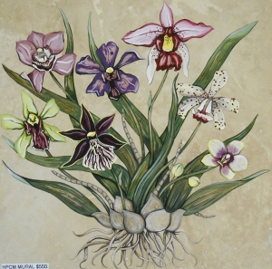 Vibrant Orchids, 18x18