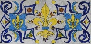 Distinguished Fleur De Lis, 12″x24″