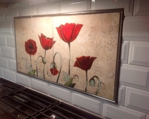 Vibrant Poppies Mural Installed