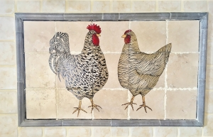 Contemporary Chickens Installed