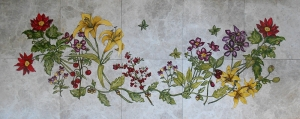 "Bountiful Flower Garden, 24""x60"""