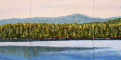 "Pleasant View Lake, 12""x36"""